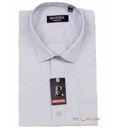 рубашка Brostem Однотонная рубашка с длинным рукавом Сорочка мужск
