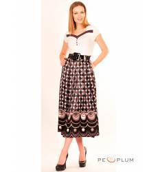 миди-платье Modeleani Повседневное платье Арт Деко лиловый