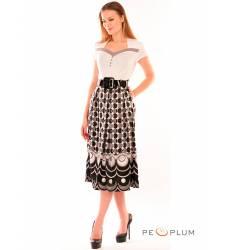 миди-платье Modeleani Повседневное платье Арт Деко серый
