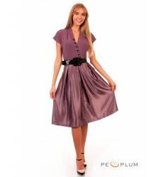 миди-платье Modeleani Повседневное платье Скарлетт лиловый в горошек