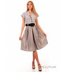 миди-платье Modeleani Повседневное платье Скарлетт дымчатый в горошек