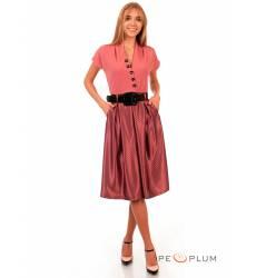 миди-платье Modeleani Повседневное платье Скарлетт лососевый в горошек