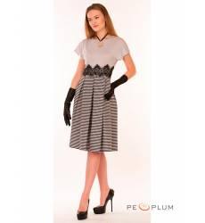 миди-платье Modeleani Повседневное платье Ретро виши