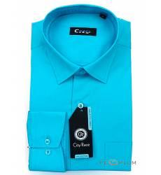 рубашка Cityrace Однотонная рубашка с длинным рукавом Сорочка мужск