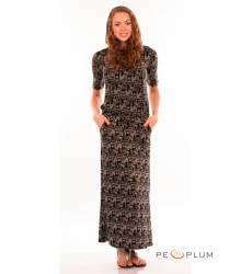 миди-платье Modeleani Повседневное платье Рига черная графика
