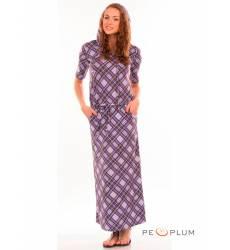 миди-платье Modeleani Повседневное платье Рига лиловая клетка