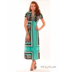 миди-платье Modeleani Повседневное платье Мексика ментоловые платки