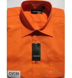 рубашка Brostem Однотонная рубашка с длинным рукавом Мужская огнен