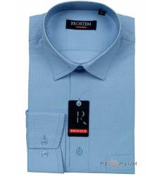 рубашка Brostem Рубашка в полоску с длинным рукавом Мужская голуба