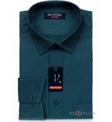 рубашка Brostem Рубашка в полоску с длинным рукавом Мужская зелена