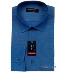 рубашка Brostem Рубашка в полоску с длинным рукавом Мужская синяя