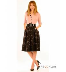 миди-платье Modeleani Повседневное платье Скарлетт пудра
