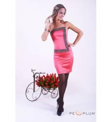 платье Zean Платье Розовое со стразами