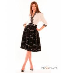 миди-платье Modeleani Повседневное платье Шарм белый
