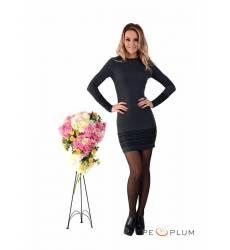 платье Zean Повседневное платье Черное с узорами