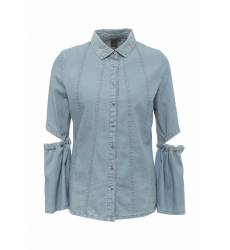 рубашка LOST INK. CUT OUT ELBOW DENIM SHIRT