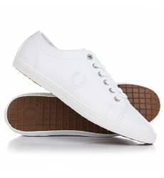 Кеды кроссовки низкие Fred Perry Kingston Leather White Kingston Leather
