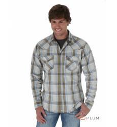 рубашка Wrangler Рубашка в клетку с длинным рукавом Green&Grey 20X