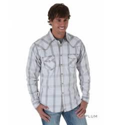 рубашка Wrangler Рубашка в клетку с длинным рукавом Grey 20X Long S