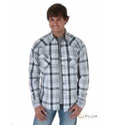 рубашка Wrangler Рубашка в клетку с длинным рукавом Blue&Grey 20X L
