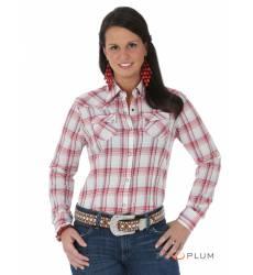 рубашка Wrangler Рубашка в клетку с длинным рукавом Coral&Blue West