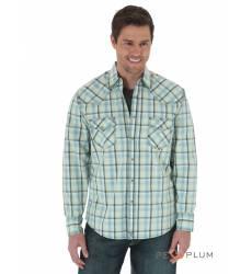 рубашка Wrangler Рубашка в клетку с длинным рукавом Dark Green/Oliv