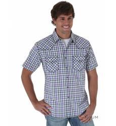 рубашка Wrangler Рубашка в клетку с коротким рукавом White&Violet 2