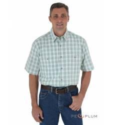 рубашка Wrangler Рубашка в клетку с коротким рукавом Wrinkle Resist