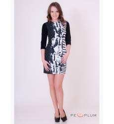 платье OleGra Платье Классик Черно-Белое