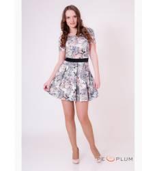 платье OleGra Платье Цветы Белое