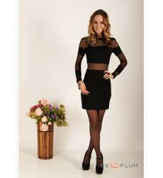 платье Zean Платье Черное с Сеткой