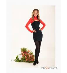 платье Zean Платье Облегающее Красно-Черное