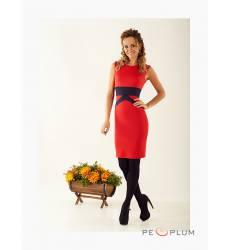 платье Zean Платье Красное Вставка Черная