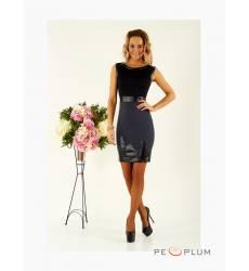 платье Zean Платье Платье Черный Кожа