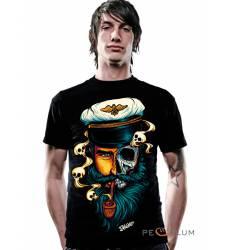 футболка 2K2BT Tattoo Art футболка Captain Skull