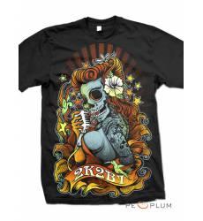 футболка 2K2BT Tattoo Art футболка Skull Diva