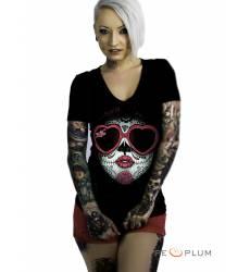 футболка 2K2BT Tattoo Art футболка Love Kiss V-neck