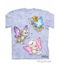 The Mountain Футболка фэнтези Butterfly Kitten Fairies Kids