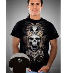 футболка Shark Футболка с черепами Tezcatlipoca Mens