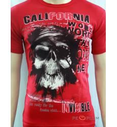 футболка Glacier Футболка с черепами California красная