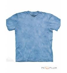 футболка The Mountain Однотонная футболка Blue Drawn