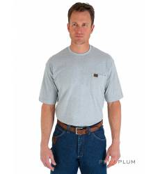 футболка Wrangler Однотонная футболка Ash Heather Pocket T-Shirt