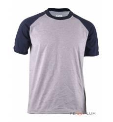 футболка BCPOLO Однотонная футболка Casual 2 Tone Raglan / Gray Na