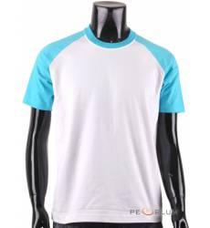 футболка BCPOLO Однотонная футболка Casual 2 Tone Raglan / White A