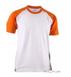 футболка BCPOLO Однотонная футболка Casual 2 Tone Raglan / White O