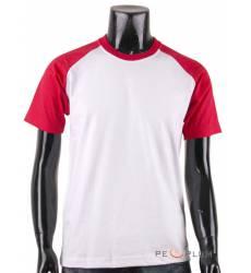 футболка BCPOLO Однотонная футболка Casual 2 Tone Raglan / White R