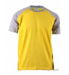 футболка BCPOLO Однотонная футболка Casual 2 Tone Raglan / Yellow