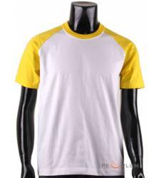 футболка BCPOLO Однотонная футболка Casual 2 Tone Raglan / White Y