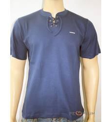 футболка Glacier Однотонная футболка Классическая с воротом на шнур