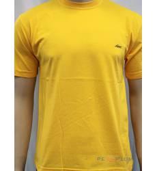 футболка Glacier Однотонная футболка Классическая желтая
